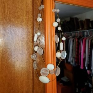 Cream and clear necklace